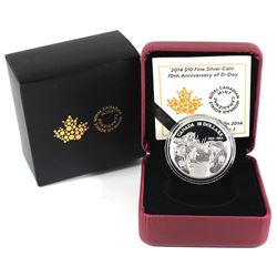 2014 Canada $10 70th Anniversary of D-Day Fine Silver Coin (TAX Exempt).