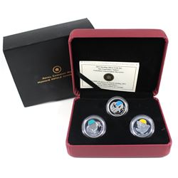 2011 Canada 25-cent Parks Canada - Our Legendary Nature 3-coin Sterling Silver Set.