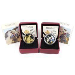 2014 Canada $20 Legend of Nanaboozhoo Coloured & 2014 $20 Nanaboozhoo & the Thunderbird Gold Plated