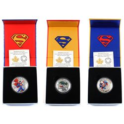 2014 Canada Superman Fine Silver Coins - $10 Iconic Superman - Action Comics #1 (1938), $15 Iconic S
