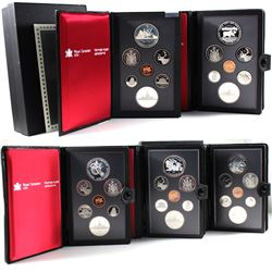 1980, 1981, 1983, 1985 & 1987 Canada 7-coin Proof Double Dollars Sets (Silver Dollars are toned). 5p