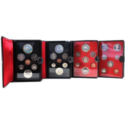 1972, 1973, 1974 & 1975 Canada 7-coin Specimen Double Dollar Sets (some coins are toned & 1972/1974