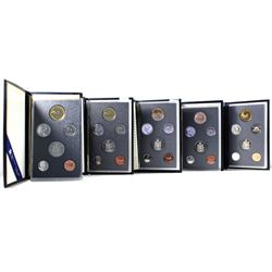 2x 1988, 1990, 1991 & 1992 Canada 6-coin Specimen Sets (one of the 1988 and the 1991 packaging are i