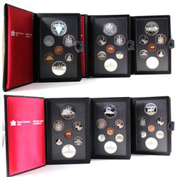 1982-1987 Canada 7-coin Proof Double Dollar Sets (some coins may be toned & plastic may be lightly s