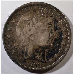 1899-O BARBER HALF DOLLAR VF