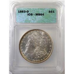 1883-O MORGAN DOLLAR, ICG MS-64