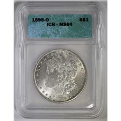 1899-O MORGAN DOLLAR, ICG MS-64