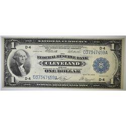 1918 $1 FEDERAL RESERVE BANK OF CLEVELAND VF