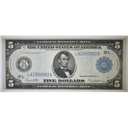 1914 $5 FEDERAL RESERVE NOTE XF