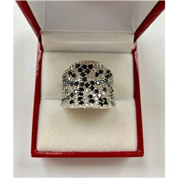 Ladies Simulated Diamond Ring with 925 Sterling SIlver Mount