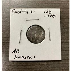 138-141 Faustina Silver Denarius