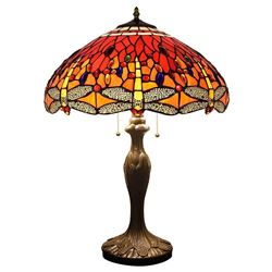 """24"""" Tiffany Style Dragon Fly Table Lamps"""