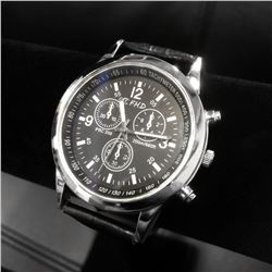 Silver Tone FHD Men's Wrist Watch