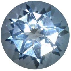 AAA Grade - Natural Fine Star of David Baby Blue Aquamarine - Round Cut - Zambia Mined
