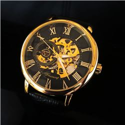 Automatic Forsining Wrist Watch Skeleton Dial with Mechanical Movement