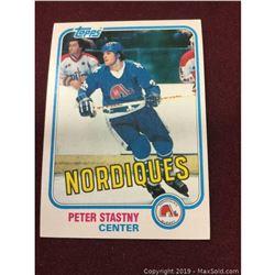 Vintage 1981 Peter Stastny Rookie Card
