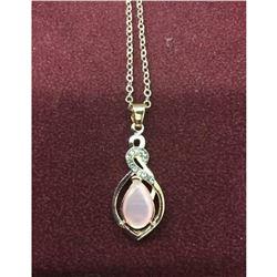 Elegant Ladies Rose Gold Tone Rhinestones Necklace