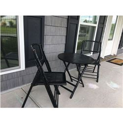 Rattan Bistro Table a Two Chairs