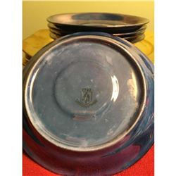 Vintage gold plates, Tea cups & Saucers Schlaggenwald Czechoslovakia