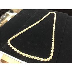 10k Yellow Gold Custom Designed Rope Chain Weight 40.5 Grams
