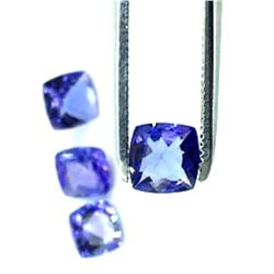 Lot Of 4 Cushion Cut Tanzanite Gemstone 2.45 Carat Total Weight
