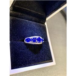 Ladies Size 7 Blue 5 Tanzanite Stone On S925 Ring