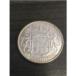 Rare 1949 MS-63 Canadian 50 Cent George V Coin