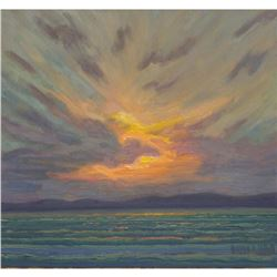 "Norman R. Brown Original Oil On Panel ""Lake Superior Cloud"""
