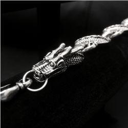 Tibetan Silver Flying Dragon Bracelet