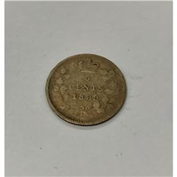 1889 Canadian VG Grade 5 Cent Coin
