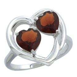 2.60 CTW Garnet Ring 10K White Gold - REF-23K7W