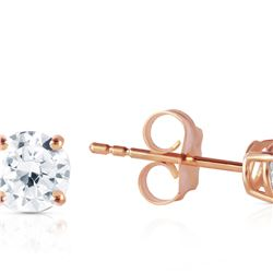 Genuine 0.40 ctw Diamond Anniversary Earrings 14KT Rose Gold - REF-102A9K