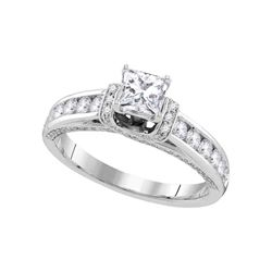 Diamond Solitaire Bridal Wedding Engagement Ring 1-1/4 Cttw 14kt White Gold