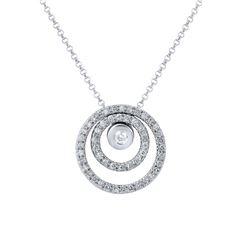 0.59 CTW Diamond Necklace 14K White Gold - REF-54K2W