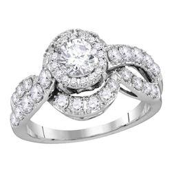 Diamond Bridal Wedding Engagement Anniversary Ring 2.00 Cttw 14k White Gold
