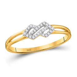 Diamond Fashion Ring 1/12 Cttw 10kt Yellow Gold