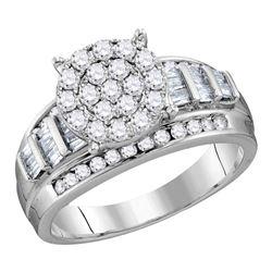 Diamond Cindys Dream Circle Cluster Bridal Wedding Engagement Ring 2.00 Cttw 10kt White Gold