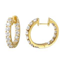 2.99 CTW Diamond Earrings 14K Yellow Gold - REF-244Y2X