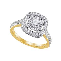 Diamond Solitaire Bridal Wedding Engagement Ring 1-1/5 Cttw 14kt Yellow Gold
