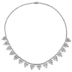 6.13 CTW Diamond Necklace 18K White Gold - REF-545H9M