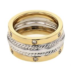 0.28 CTW Diamond Ring 14K 2Tone Gold - REF-87R5K