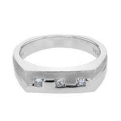 0.26 CTW Princess Diamond Ring 14K White Gold - REF-71H2M