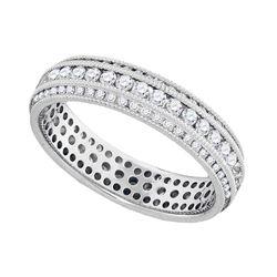 Diamond Bridal Wedding Eternity Band 1.00 Cttw 10k White Gold