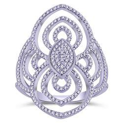 0.33 CTW Diamond Ring 14K White Gold - REF-33X5R