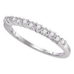 Diamond Single Row Band Ring 1/6 Cttw 10kt White Gold