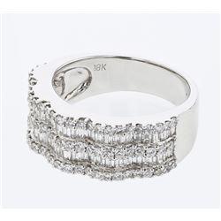 1.55 CTW Diamond Ring 18K White Gold - REF-164W6H