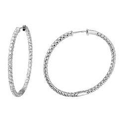 2.47 CTW Diamond Earrings 14K White Gold - REF-148H5M