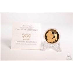 """Royal Canadian MInt 1996 Canadian $175.00, 22 karat 16.97 gram gold """"1896-1996 The Olympic Flame"""" co"""