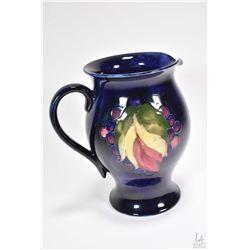 """Moorcroft Pottery Grape and Leaf 7 1/2"""" jug"""