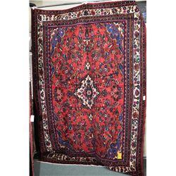 100% handmade Iranian Hamden carpet with center medallion, overall floral design and multiple border